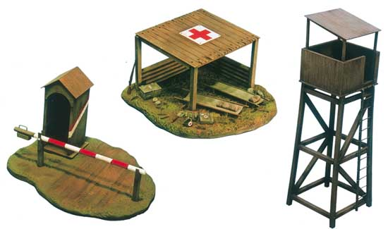 BUNKER AND ACCESSORIES WWII KIT 1:72 MEZZI MILITARI ITALERI SCALA